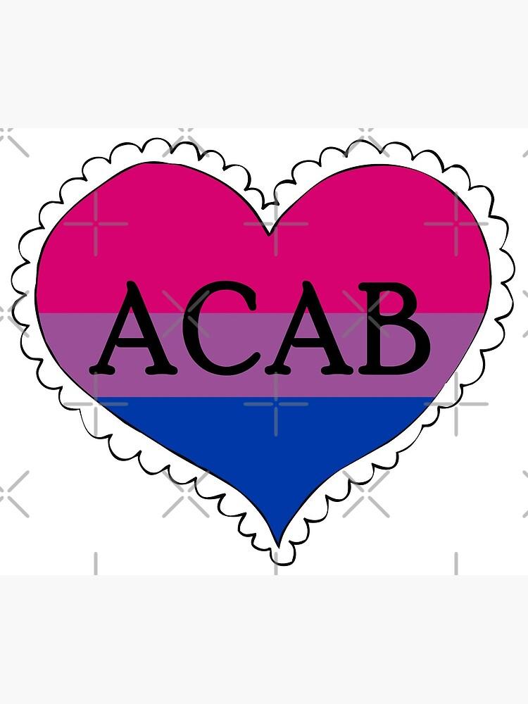 acab bisexual pride flag heart by craftordiy
