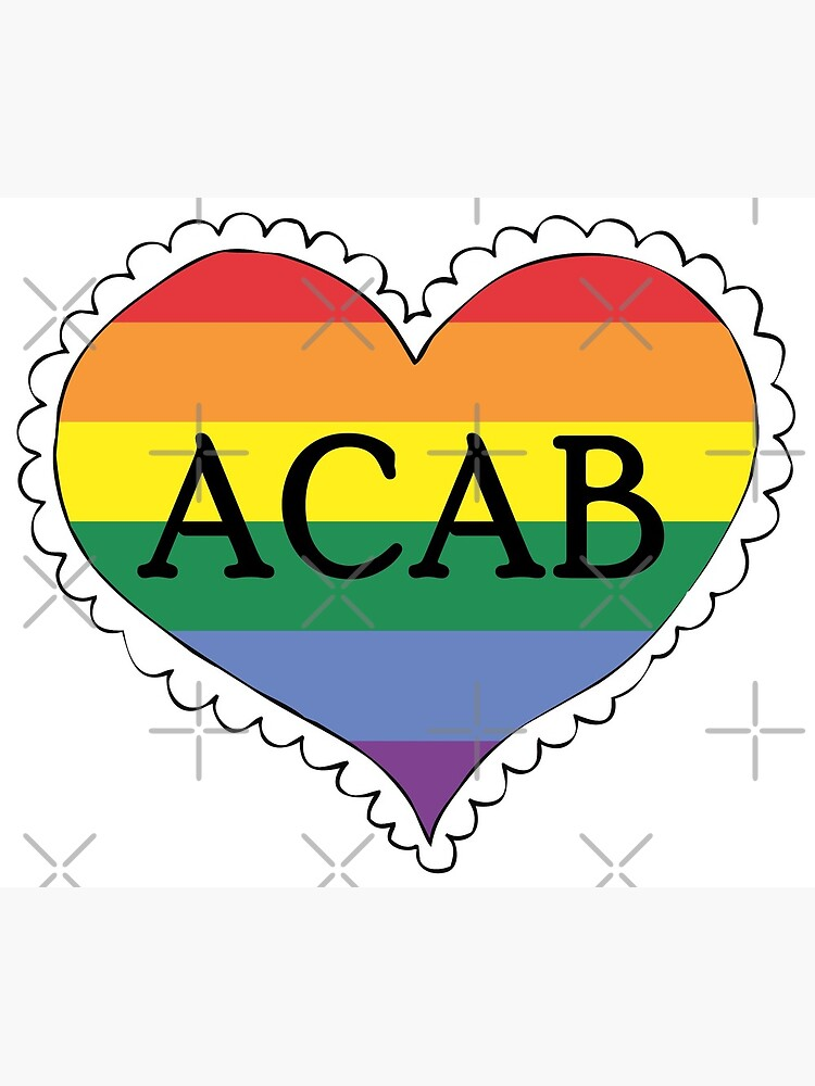 acab gay pride flag heart by craftordiy