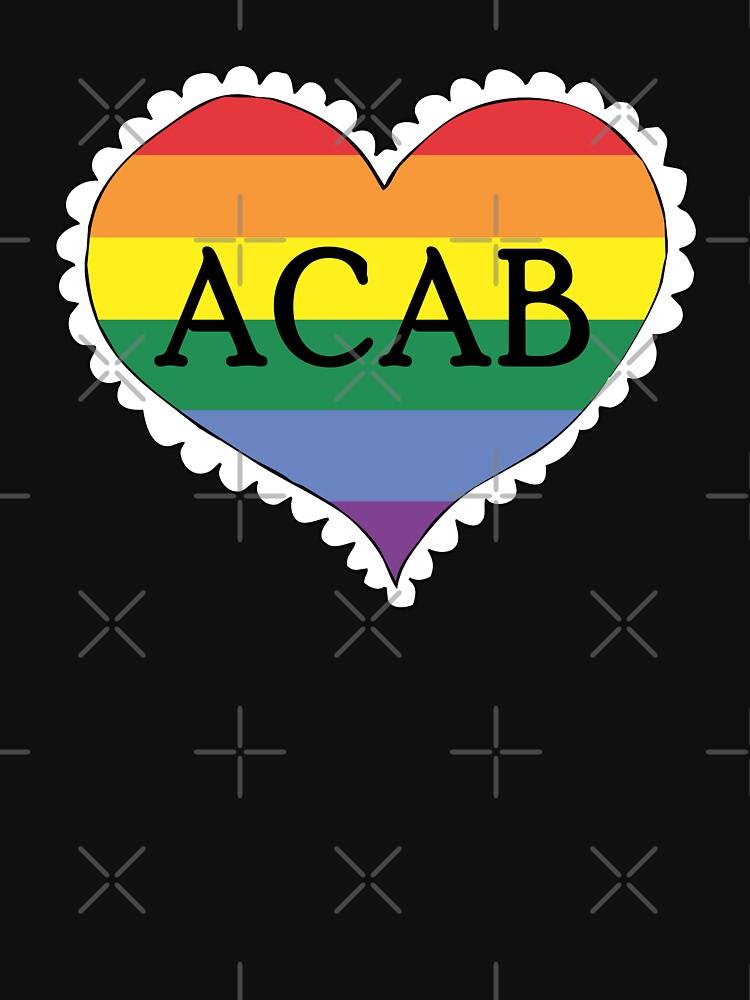 acab gay pride flag heart by craftordiy