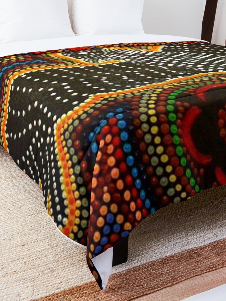 Alternate view of Black cockatoo - dreaming  Comforter