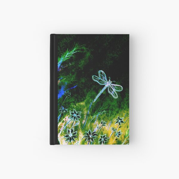 Angel Dragonfly  Hardcover Journal
