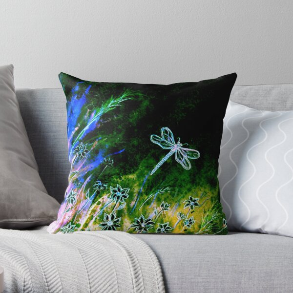 Angel Dragonfly  Throw Pillow