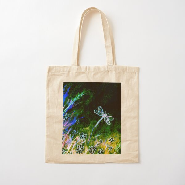 Angel Dragonfly  Cotton Tote Bag