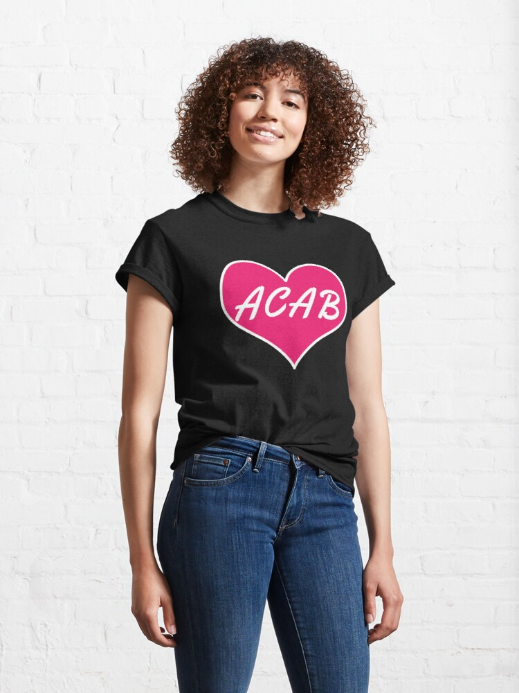 Alternate view of acab heart Classic T-Shirt