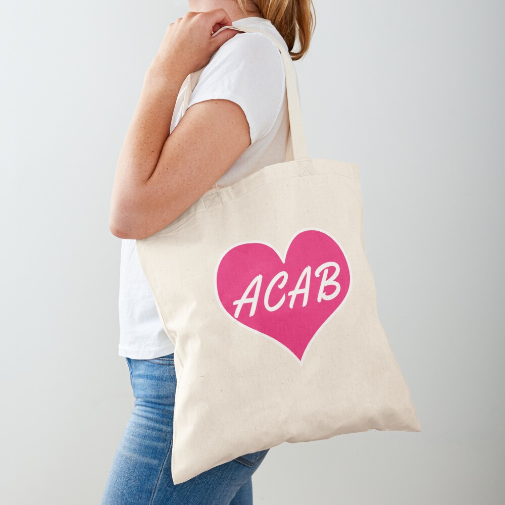 acab heart Tote Bag