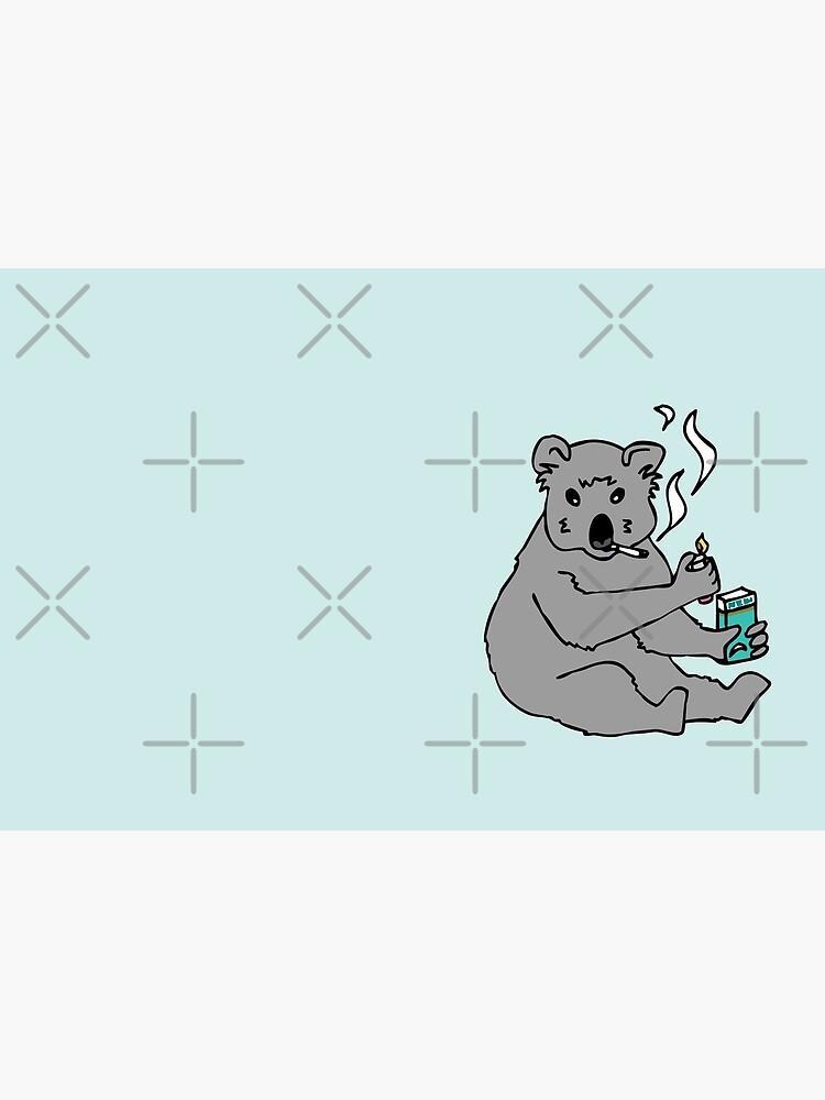 koala smoking a cigarette by craftordiy