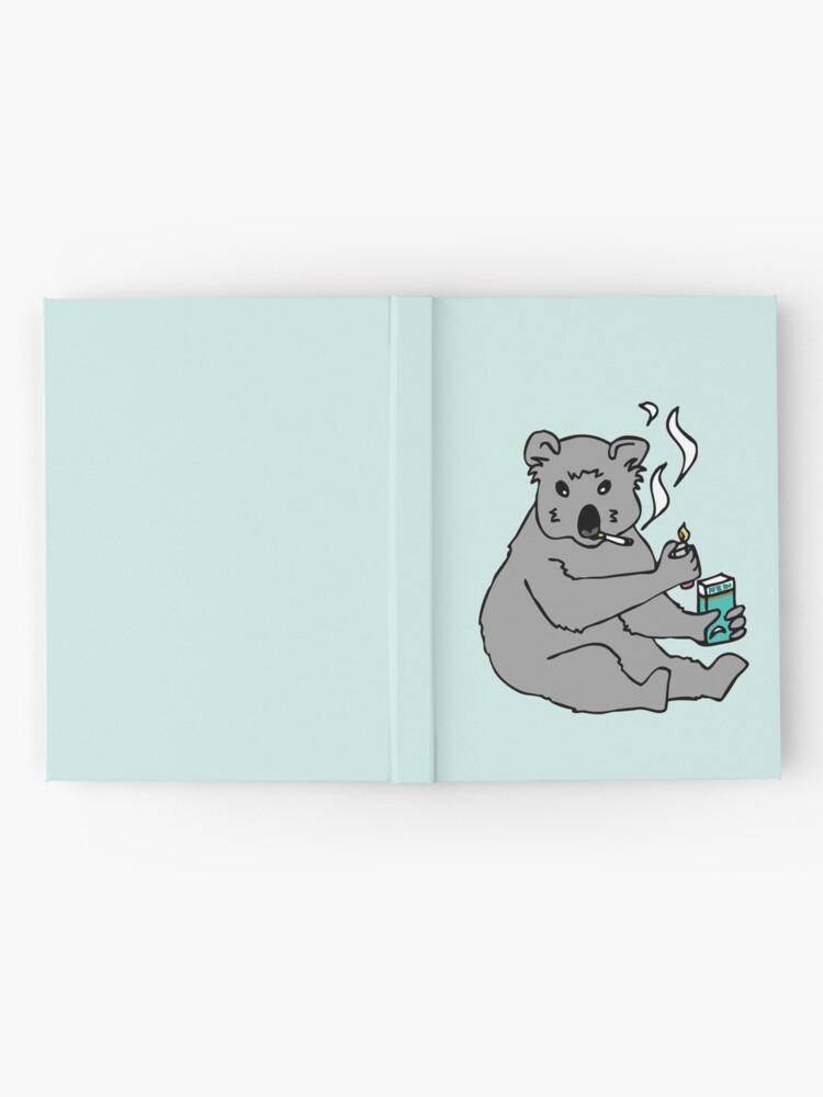 Alternate view of koala smoking a cigarette Hardcover Journal