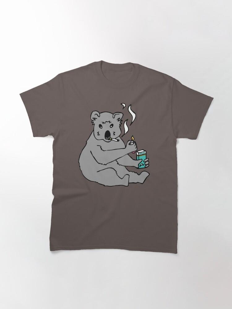 Alternate view of koala smoking a cigarette Classic T-Shirt