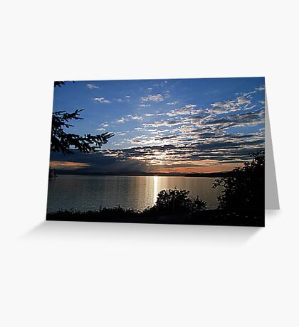 A Late Spring Sunset Greeting Card