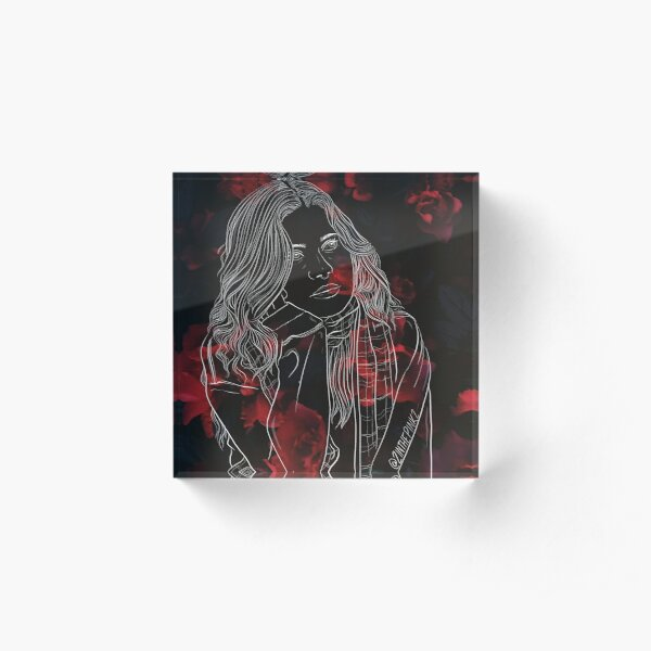 Girl in Red Acrylic Block