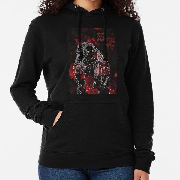Chica de rojo Sudadera ligera con capucha