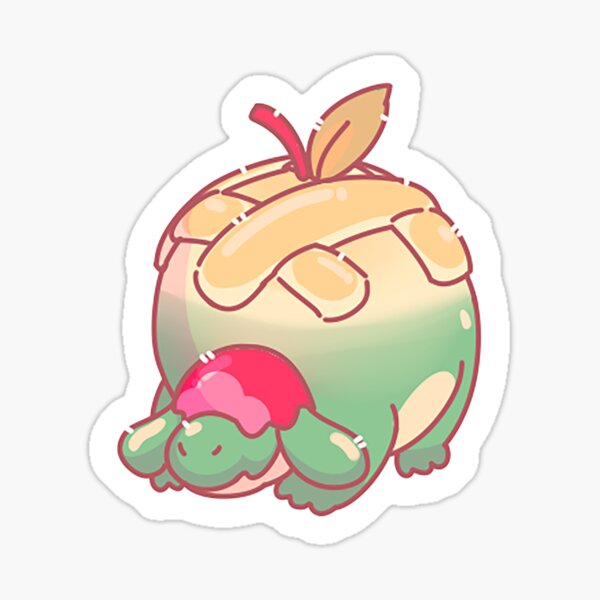 cartoon appletun Sticker