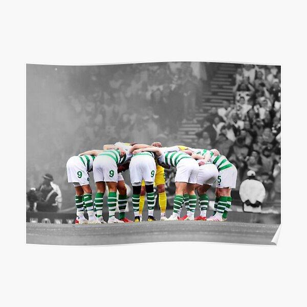 Celtic fc huddle Poster