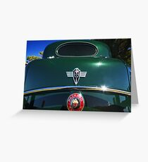 Packard #6 - Green V12 Greeting Card