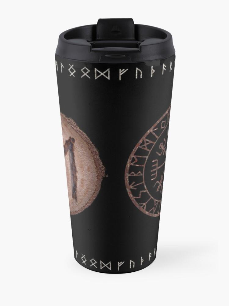 Alternate view of Ehwaz - Elder Futhark rune Travel Mug