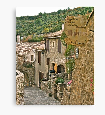 The Streets of Minerve Canvas Print