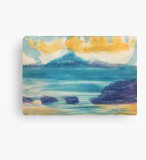 Blue Ocean scene, watercolor Canvas Print