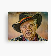 JOHN AND HIS HAT. Canvas Print