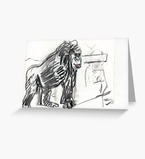 Primate. Greeting Card