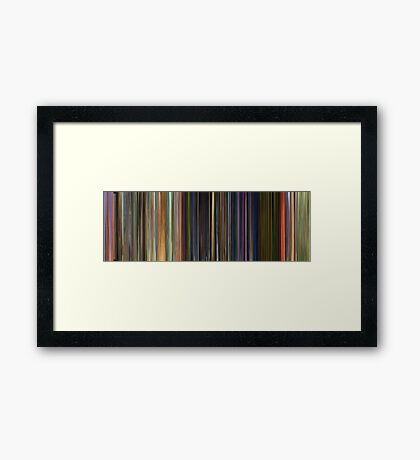 Moviebarcode: Toy Story 3 (2010) Framed Print