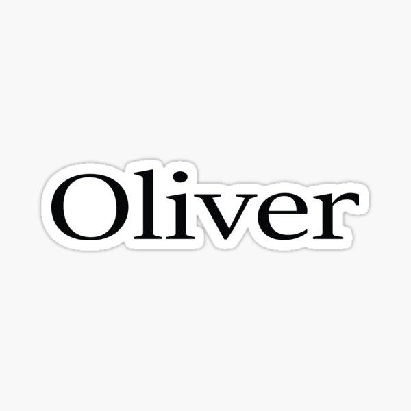 Oliver Name  Sticker