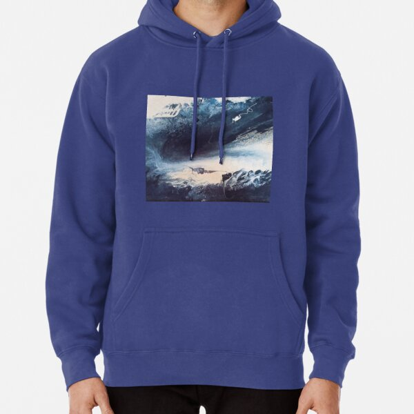 Blue Vision Abstract Pullover Hoodie
