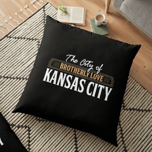 City of brotherly love: Kansas City USA Floor Pillow