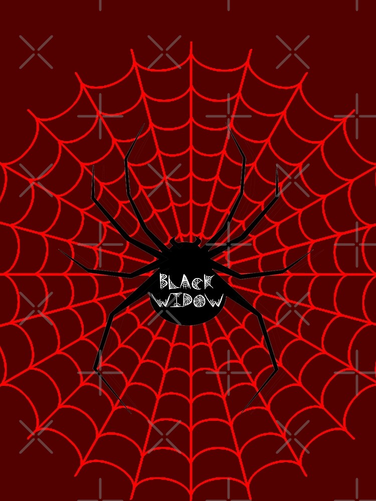 Black Widow Spider Web T Shirt By Frigamribe88 Redbubble