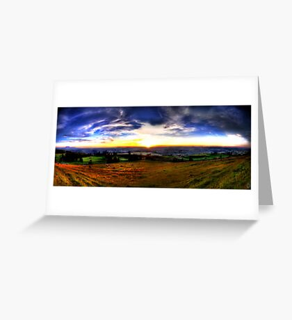 Zugerberg Sunset HDR Panorama Greeting Card