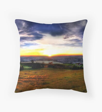 Zugerberg Sunset HDR Panorama Throw Pillow