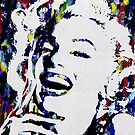 Monroe Celebrity Hollywood Abstract Painting by Robert  Erod