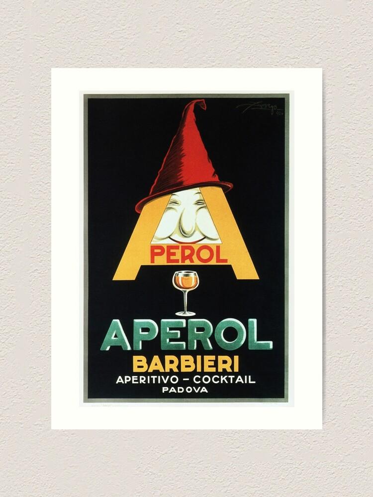 Alternative Ansicht von APEROL BARBIERI Aperitivo Cocktail Vintage italienische Likör Werbung Kunstdruck