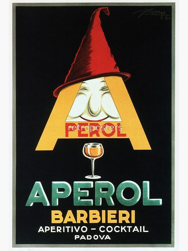 APEROL BARBIERI Aperitivo Cocktail Vintage italienische Likör Werbung von retroposters