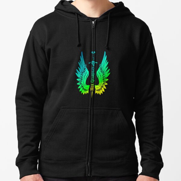 Her Guardian Husband Boyfriend Matching Outfit With Wings Pullover Hoodie Zipped Hoodie
