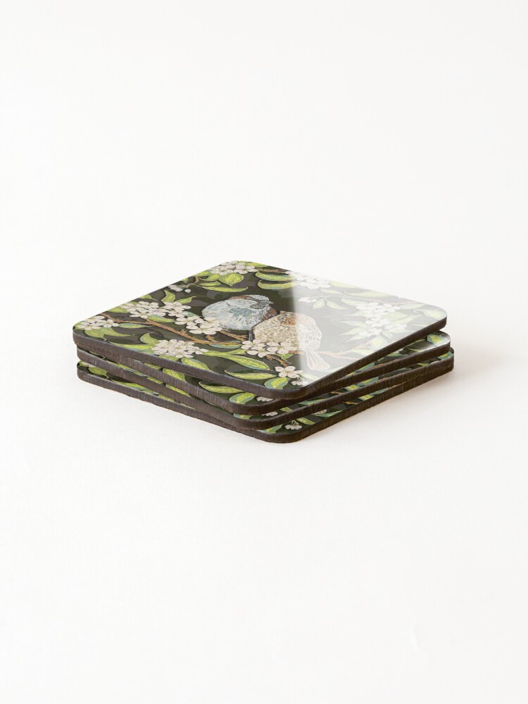 Alternate view of Sparrows in the Plum Tree Coasters (Set of 4)