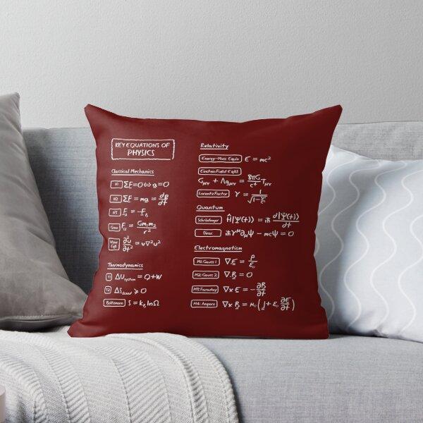 Key Equations of Physics Throw Pillow