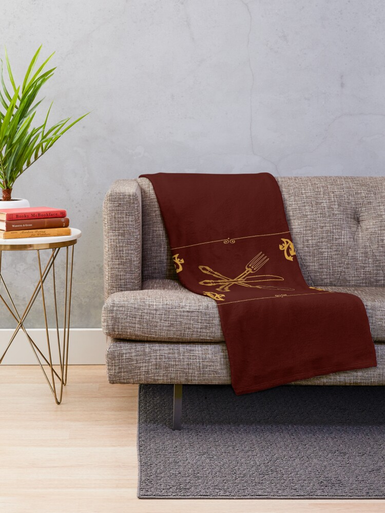 Alternate view of Just Add Magic Utensils Gold with Border Throw Blanket