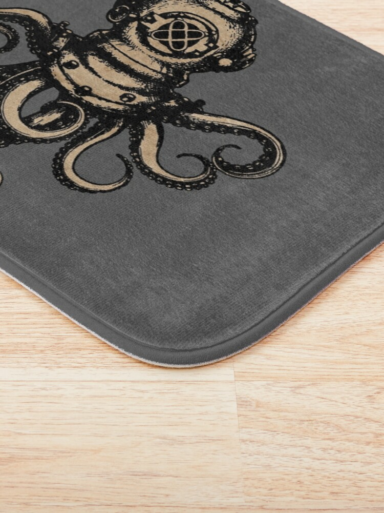 Alternate view of Steampunk Octopus Bath Mat