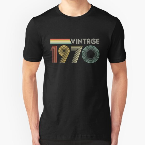 Vintage 1970, 50th Birthday Gift Slim Fit T-Shirt