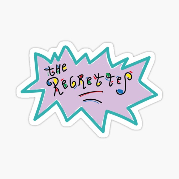 The Regrettes Rugrats themed logo - illustration Sticker