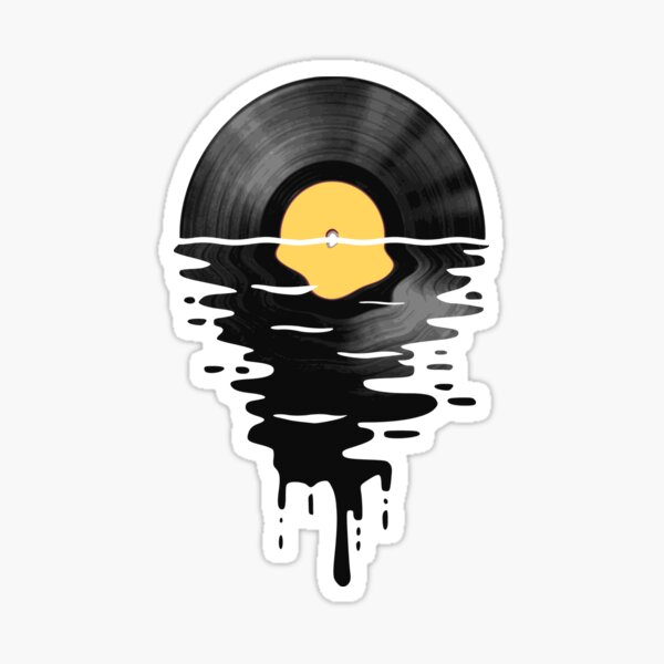 Vinyl LP Music Record Sunset  Yellow Sticker