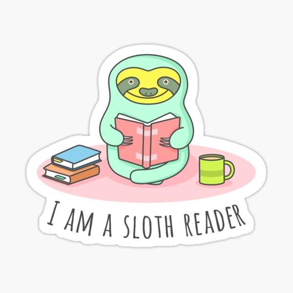 Reading Sloth Sticker