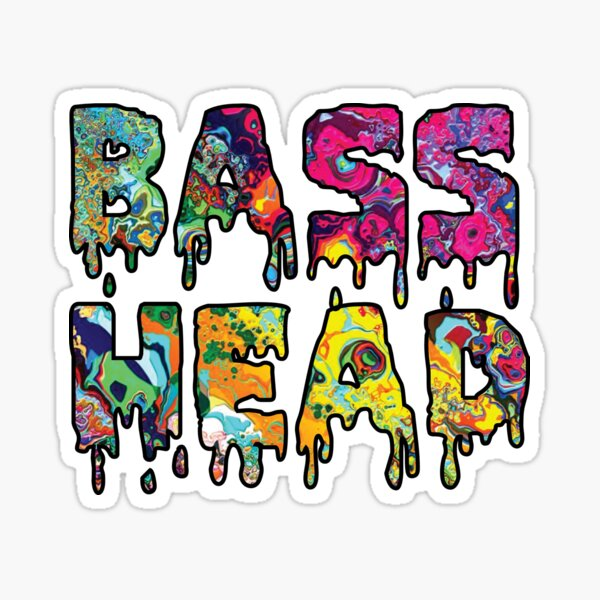 Bass Head Trippy Drip Sticker