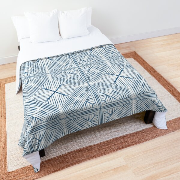 Geometric painting blue Comforter