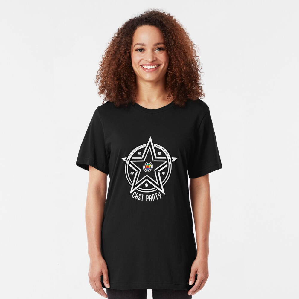 Cast Party Logo (for dark backgrounds) Slim Fit T-Shirt