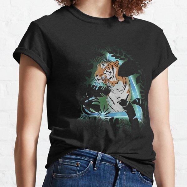 Tigre en soirée T-shirt classique