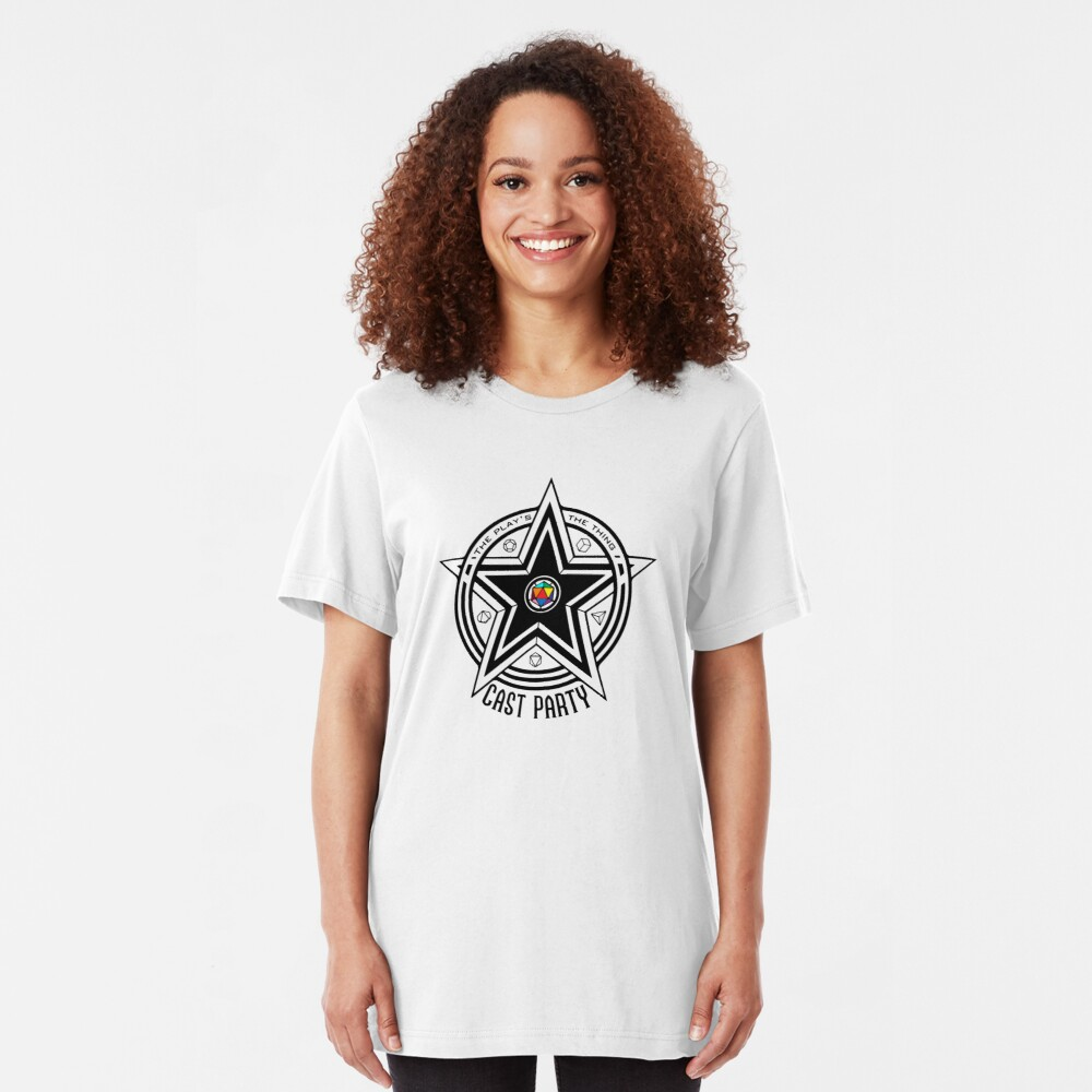 Cast Party Logo (for white backgrounds) Slim Fit T-Shirt