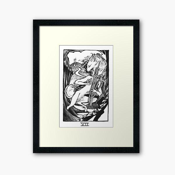 Seven of Swords Framed Art Print