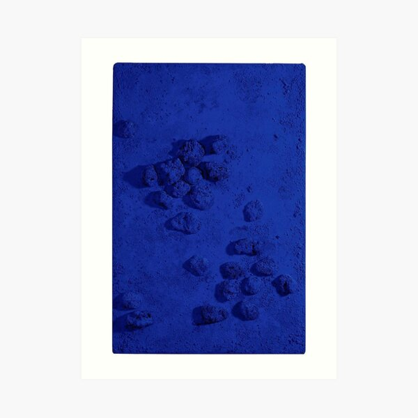 Color trend of the year - Yves Klein Blue Art Print