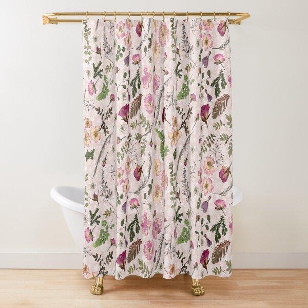 Chintz Pink Rose Garden Shower Curtain